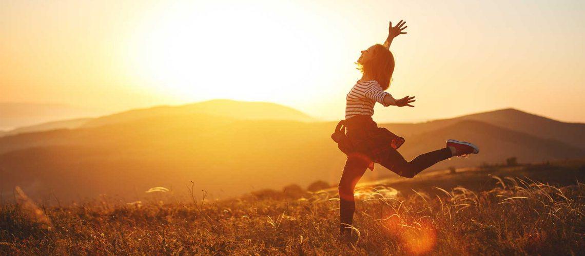 running in the sunshine